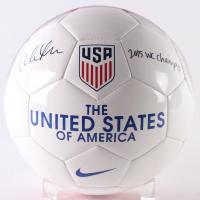 "Christen Press Signed Nike Team USA Logo Soccer Ball Inscribed ""2015 WC Champs"" (JSA COA) at PristineAuction.com"