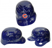 2016 Cubs Authentic Full-Size Batting Helmet Team-Signed by (22) With Ben Zobrist, Addison Russell, Jon Lester, Dexter Fowler (Schwartz COA)