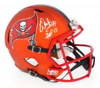 """Warren Sapp Signed Buccaneers Full-Size Speed Helmet Inscribed """"HOF 13"""" (JSA COA)"""