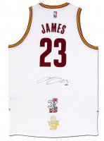 "LeBron James Signed Cavaliers Adidas ""3x MVP"" & ""16 Finals"" Patch Jersey (UDA COA)"