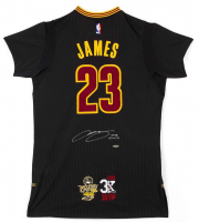 "LeBron James Signed Cleveland Cavaliers Adidas ""3x MVP"" & ""16 Finals"" Patch Pride Jersey (UDA COA)"