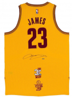 "LeBron James Signed Cleveland Cavaliers ""3x MVP"" & ""16 Finals"" Patch Jersey (UDA COA)"