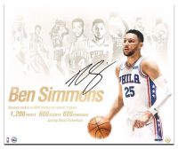 "Ben Simmons Signed Philadelphia 76ers ""NBA Royalty"" 20x24 Photo (UDA COA) at PristineAuction.com"