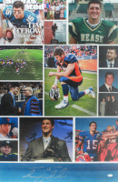 Tim Tebow Signed 24x35 Custom Career Showcase Poster (JSA COA)