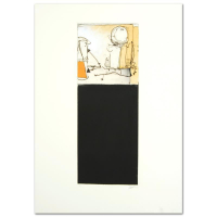 "Babak Emanuel Signed ""Rendition Diary IV"" 8x22 One-of-a-Kind Monoprint #1/1 at PristineAuction.com"