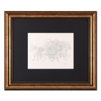 "Guillaume Azoulay Signed ""Progression AB"" 28x24 Custom Framed Original Drawing at PristineAuction.com"