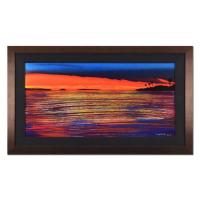"Wyland Signed ""I Love The Keys"" 36x21 Custom Framed Original Oil Painting on Canvas"