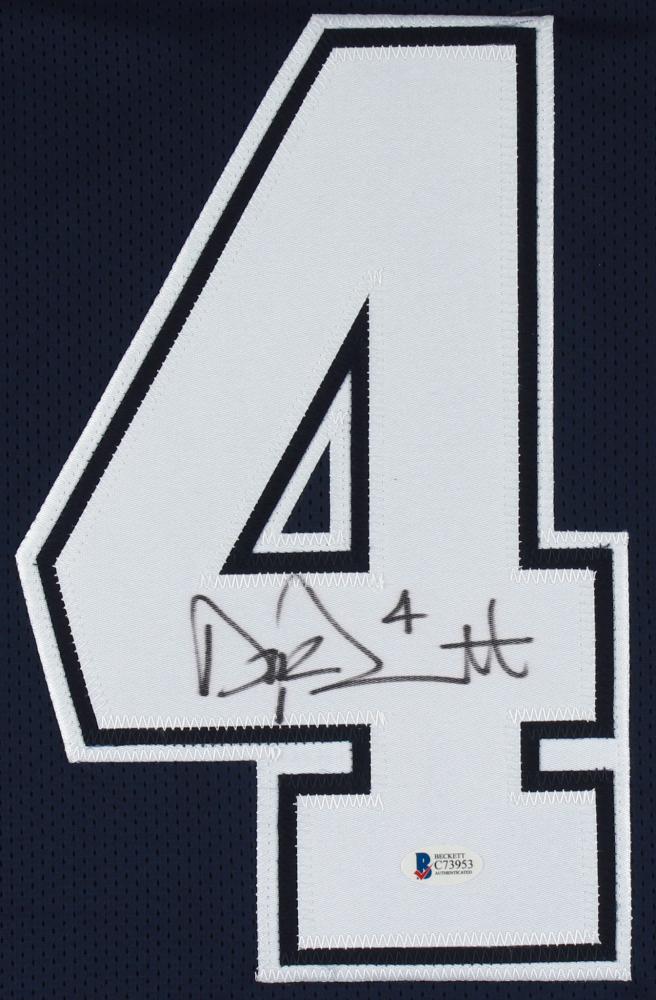 ... get dak prescott signed cowboys jersey beckett coa at pristineauction  182b1 327e1 netherlands dak prescott autographed jersey thanksgiving ... fc77cb655