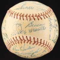 "1955 Yankees Official Baseball Team-Signed by (27) with Mickey Mantle, Ed ""Whitey"" Ford, Yogi Berra, Phil Rizzuto, Hank Bauer, Bob Turley (JSA ALOA)"