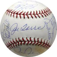 1998 Yankees MLB Baseball Team-Signed by (24) with Don Zimmer, Mariano Rivera, Paul O'Neill, Mel Stottlemyre, Derek Jeter (Steiner COA)