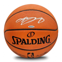 LeBron James Signed Spalding Basketball (UDA COA)