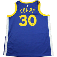 "Stephen Curry Signed Warriors Jersey Inscribed ""2018 NBA Champs"" (Steiner COA)"