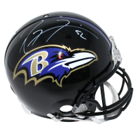 Ray Lewis Signed Ravens Full Size Authentic Proline Helmet (Steiner COA)