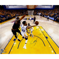 Stephen Curry Signed Warriors 'NBA Finals' Limited Edition 20x24 Photo with LeBron James #/30 (Steiner COA)