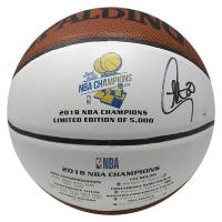 Stephen Curry Signed Warriors 2018 NBA Champions Logo Basketball (Steiner COA)