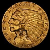 1925-D $2.50 Indian Quarter Eagle Gold Coin