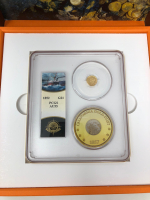 "1852 $1 Liberty Head Gold Dollar ""Ship of Gold"" Shipwreck Coin with 1857 California Gold Dust (PCGS AU 55) at PristineAuction.com"