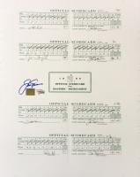 Jack Nicklaus Signed 1986 Masters Scorecard Sheet (Fanatics Hologram)