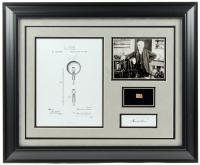 Thomas Edison 19.5x23.5 Custom Framed Display with (1) Hand-Written Word (JSA ALOA Copy)