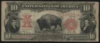 "1901 'Bison' $10 Ten Dollars Legal Tender ""Mule Note"" Large Size Bank Note"
