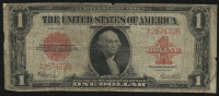 1923 $1 One Dollar U.S. Red Seal Large Size Bank Note Bill