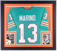 Dan Marino Signed Dolphins 31x35 Custom Framed Jersey (JSA COA)