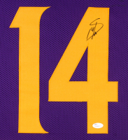 Stefon Diggs Signed Vikings 31x35 Custom Framed Color Rush Jersey (JSA COA) at PristineAuction.com