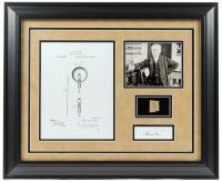 Thomas Edison 19.5x23.5 Custom Framed Display with (1) Hand-Written Word (RR Auction LOA Copy)