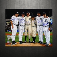 "New York Yankees ""Perfect Game Pitchers And Catchers"" 16x20 Photo Team-Signed by (6) with Joe Girardi, Don Larsen, Jorge Posada, Yogi Berra (Steiner COA)"