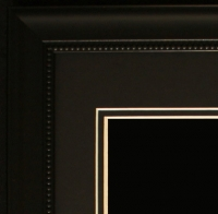 "Custom Frame for 11x14 Photo - Black Frame with Black Double Matting (Overall Dimensions 20.5"" x 16.5"") at PristineAuction.com"