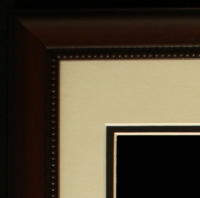 "Custom Frame for 11x14 Photo - Cherry Frame with White Double Matting (Overall Dimensions 20.5"" x 16.5"") at PristineAuction.com"