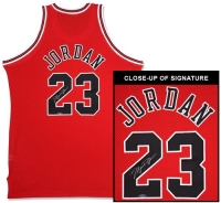 Michael Jordan Signed Bulls Mitchell & Ness Authentic Jersey (UDA COA) at PristineAuction.com