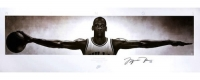 """Michael Jordan Signed Bulls 72"""" x 23"""" Wings Poster (UDA COA) at PristineAuction.com"""