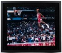 "Michael Jordan Signed Custom Framed 20"" x 24"" 1988 Gatorade Slam Dunk Photo (UDA COA) at PristineAuction.com"