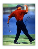 "Tiger Woods Signed 2001 Masters ""Fist Pump"" 16x20 Photo (UDA COA) at PristineAuction.com"
