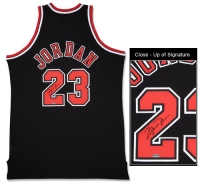 Michael Jordan Signed Bulls Mitchell & Ness Authentic Alternate Black Jersey (UDA COA) at PristineAuction.com