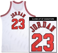 Michael Jordan Signed Bulls Mitchell & Ness Authentic 1997-98 Home White Jersey (UDA COA) at PristineAuction.com