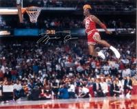 "Michael Jordan Signed Bulls ""1988 Gatorade Slam Dunk Contest"" 16x20 Photo (UDA COA) at PristineAuction.com"