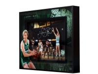 "Larry Bird Signed Celtics ""East vs. West"" 16x20 Photo Shadowbox (UDA COA) at PristineAuction.com"