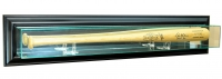 Wall Mounted Baseball Bat Display Case with Mirrored Back & Black Wood Frame at PristineAuction.com