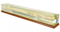 Premium Baseball Bat Display Case with Mirrored Back & Walnut Wood Base at PristineAuction.com